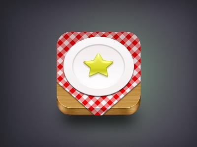 Restaurant Icon icons restaurant icon ios icon wood star dish food retina rating