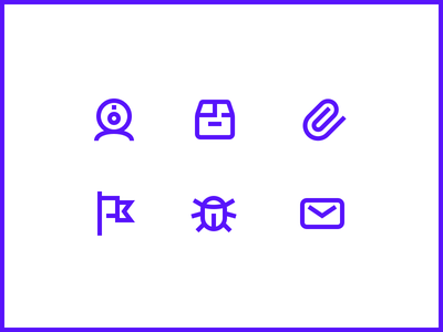 Icons pictogram mail bug flag clip package parcel cam webcam icon icon set icons