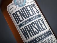 Bender's Rye Front Label