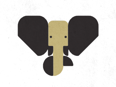 Baby Elephant logo illustration elephant