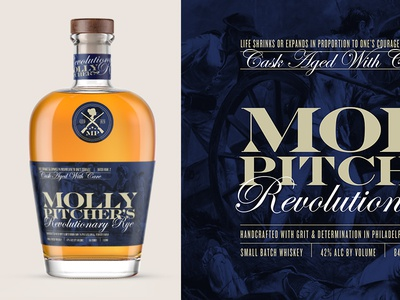 Molly Pitcher's Revolutionary Rye concept spirits packaging whiskey