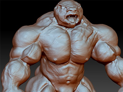 Zbrush dude zbrush character modelling art sculpture monsters bodybuilding body aesthetics ripped muscle 3d