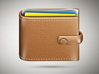 Skeuomorphic wallet