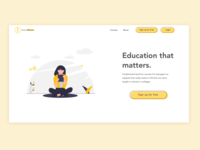 Landing page for online courses
