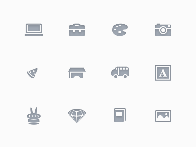 Categories icons ui