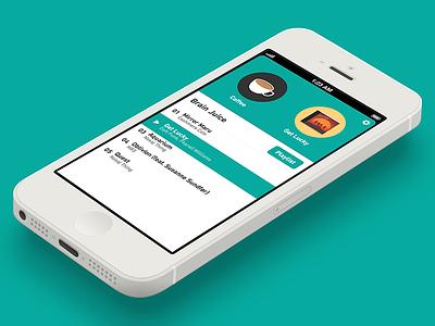 Coffitivity for iOS coffitivity ios app flat design