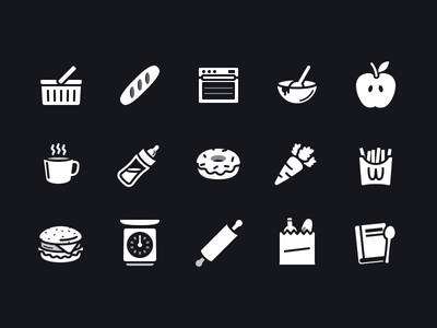 Shortcuts Glyphs Pt. 2 groceries donut kitchen food shortcuts icon ios icon design glyph