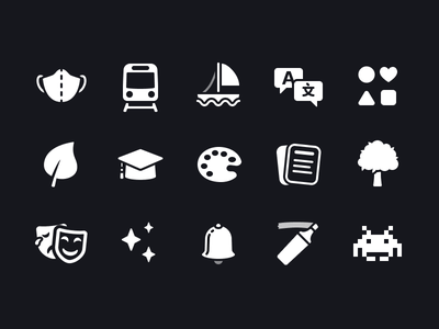 Shortcuts Glyphs Pt. 4 icon set glyphs shortcuts icons ios icon
