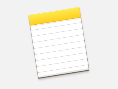 Notes yosemite icon restyle notes