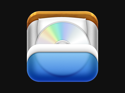 Bed bed cd icon ios