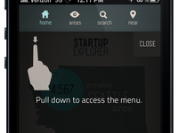 Menu for Startup Explorer by Buddy