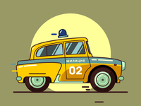 Soviet Police Car