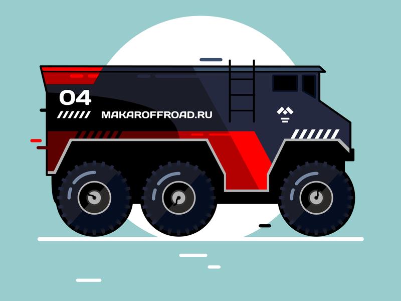 Burlak racing illustration febrally design challenge vector flat car auto