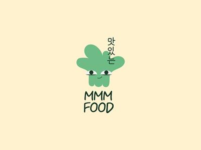 Logotype for cafe. MMM FOOD logo design logos logodesign branding logo logotype illustration designerdianak