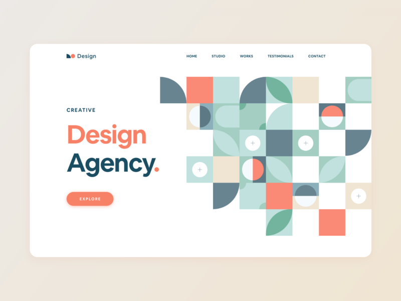 Creative Design Agency trendy pattern trendy design top design popular shot pattern design morden design minimalistic landing page concept dribbble best shot creative design creative concept design concept art colorful clean best design agency website adobe xd abstract design 2020 trend