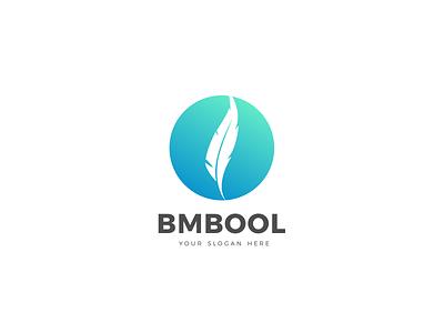 Bmbool (feather) Logo Design design designer graphicdesign branding identity brand emblem logo vector illustrator logodesign logotypes emblem feather logos logotype logo design
