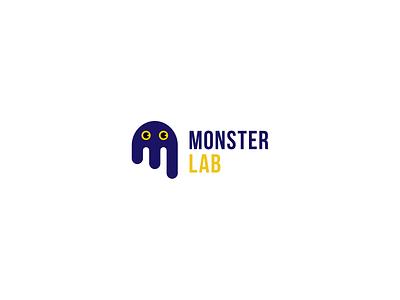 Monster Lab Logo Design logo illustration branding logos illustrator emblem vector design art identity brand designer lab monster graphicdesign design