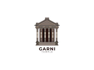 Garni Temple Illustration in Flat Style designer illustration graphicdesign vector illustrator design old temple armenian armenia garni