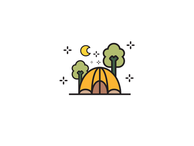 Camp Flat Icon illustration designer design vector illustration illustrator icons graphicdesign icon camp