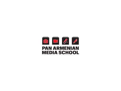 Panarmenian Media School Logo Design designer logos logo illustration graphicdesign design illustrator vector branding brand schools logotype media logo media school