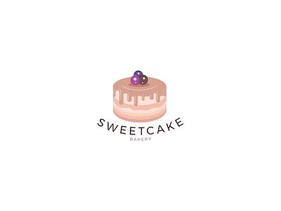 Sweet Cake Logo Design illustrator vector logos packaging bakery packaging company branding brand logodesign logo logotype bakery logo cakery cake logo cake shop cakes bakery cake