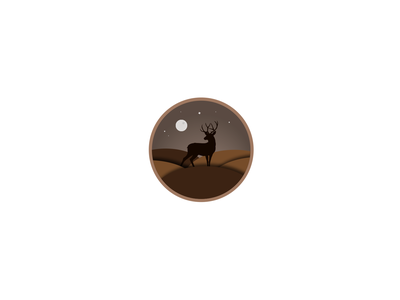 Dribble mockup designer graphicdesign design illustrator vector deers icon landscape illustration deer logo deer illustration deer