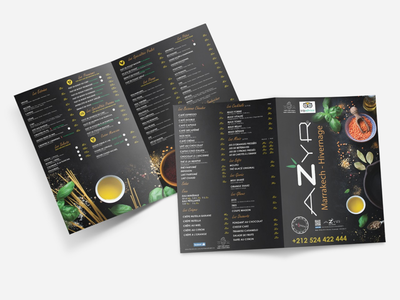 Menu restaurant azyr photoshop illustrator restaurant print design graphic design menu