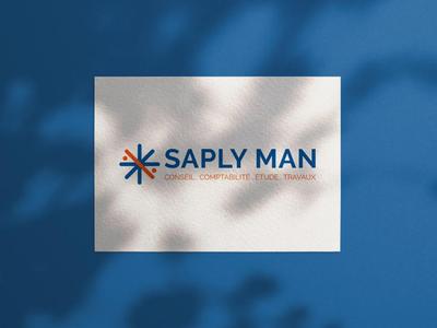 Logo Saply Man accounting brand identity identity brand accounting comptabilité graphic design logo maker design logo