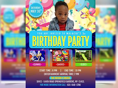 Birthday Flyer Design social media poster birthday invitation birthday party flyer design
