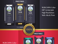 I Will Design A Beautiful Pricing Table For Your Website