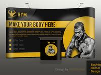 Professional Advertising Backdrop, POP UP Banner Design