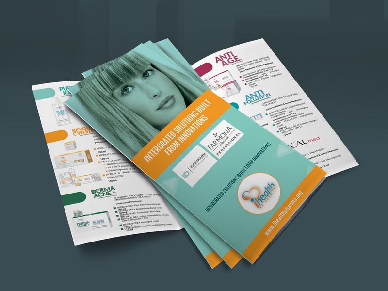Health Product Trifold Brochure Design freemockup mockup trifold brochure triflod branding flyer design illustration bifold brochure corporate profesional brochure design booklet design