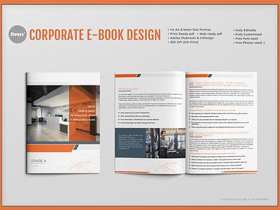 Corporate Ebook Design icon animation mockup android app design vector branding trifold brochure typography illustration catalog design corporate profesional flyer design bifold brochure magazine brochure design booklet design