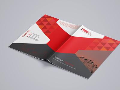 Company Profile Design brochure design illustration corporate bifold brochure booklet design