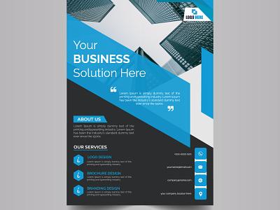 Business Flyer leaflet poster bifold brochure corporate profesional flyer design