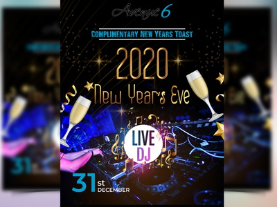 New Years EVE Flyer Design party poster party event party flyer dj flyer newyearflyer2020 flyer2020 2020 newyear new year newyearflyer leaflet flyer design