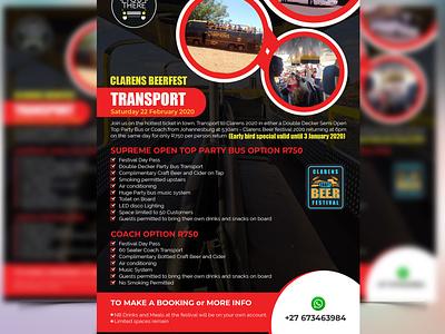 Transport Flyer or Leaflet Design free mockup mockup modern flyer vector 2020 leaflets transport flyer transport event flyer poster leaflet design flyer design