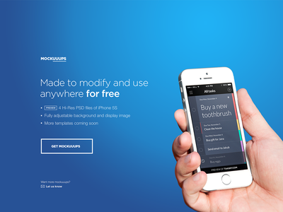 Mockuuups: Free iPhone 5S templates