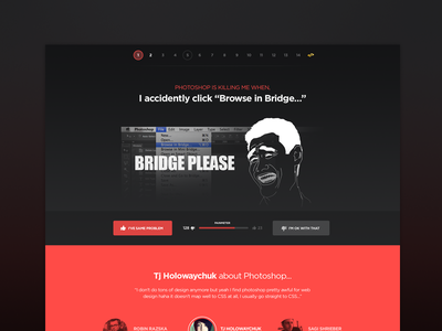 Photoshop Killer photoshop bugs issues features red teasing fun campaign webdesign bridge black