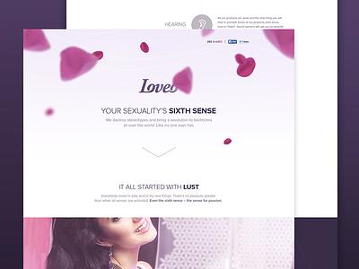 Landing page landing page webdesign pink erotic