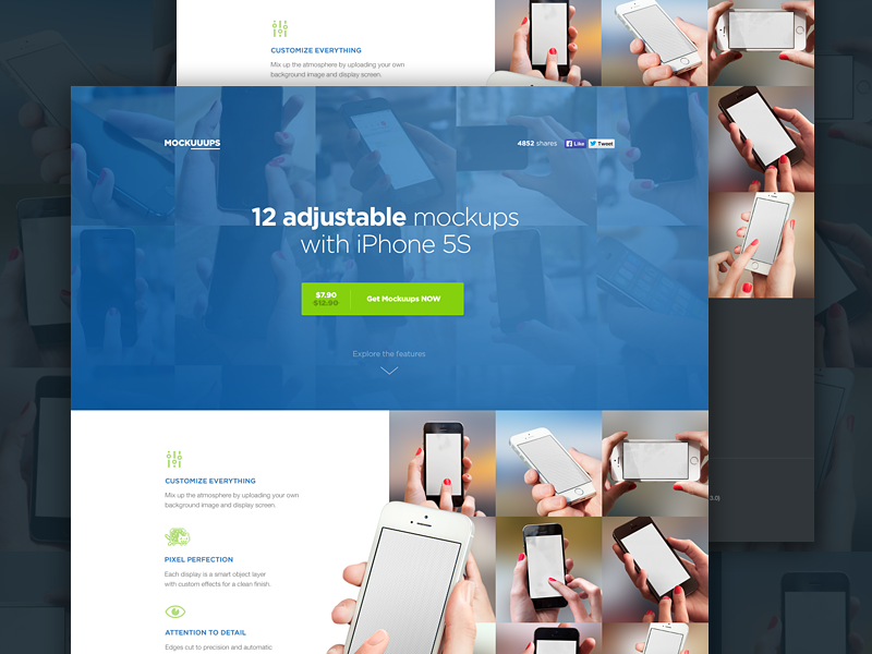 New Mockuuups template mockup photoshop iphone download hand phone psd resource