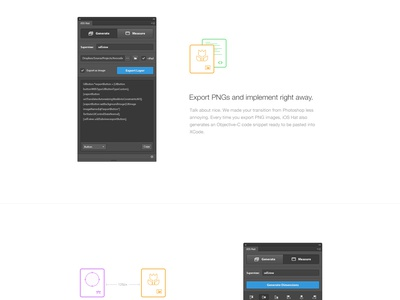 iOS Hat Landing page ios swift photoshop extension plugin iphone hat app