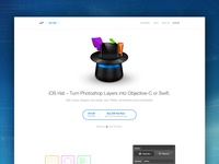 iOS Hat Landing page