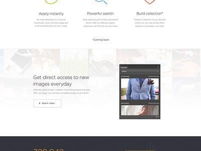 Picjumbo [Extension] photos free extension plugin landing page icon dark stock