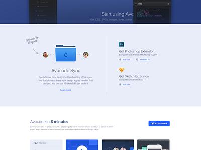 Avocode Download page wip avocode download page mac app ui site web website