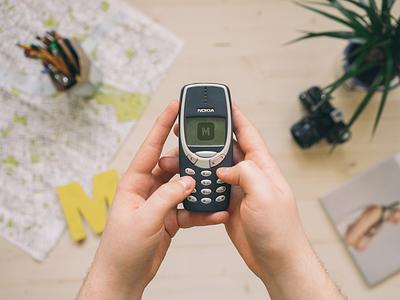 Nokia 3310 PSD Mockuuups nokia psd mockup template 3310 download april iphone freebie cellphone smartphone phone