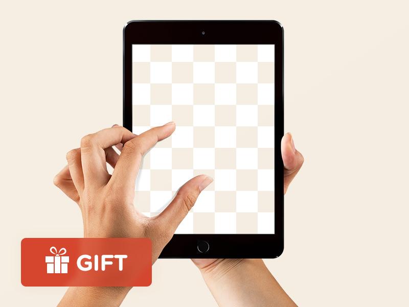FREE iPad Mini (Limited) hand man woman freebie mockup psd sketch mini ipad