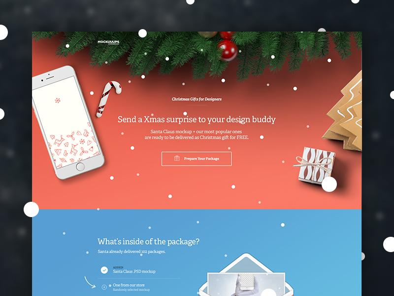 Xmas Mockuuups webiste xmas hand freebie template download sketch psd mockup iphone gift christmas
