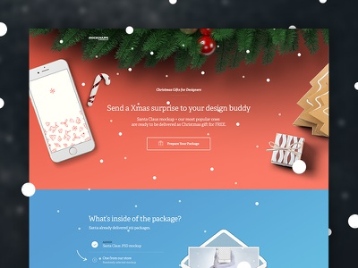 Xmas Mockuuups webiste xmas hand freebie template download sketch psd mockup iphone gift christmas