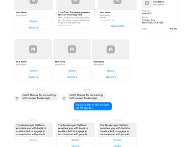 Bots UI Kit  template kit ui mockuuups download free sketch messenger ui kit